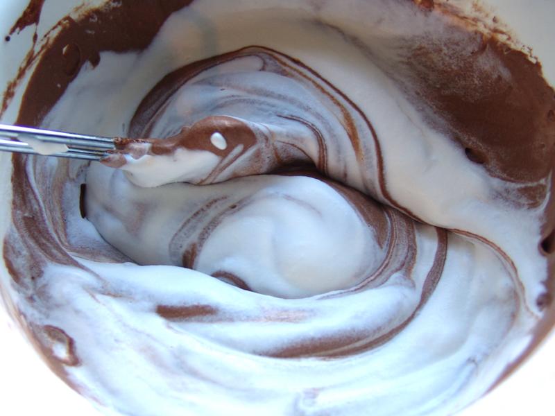 Chocolademousse verstopt onder een tulband