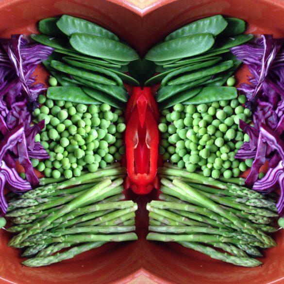 Verschillende groenten samen in een schaal