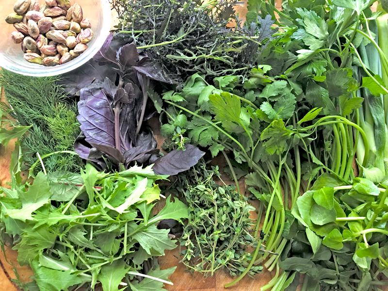9 Kruidenfritatta met pistache nootjes