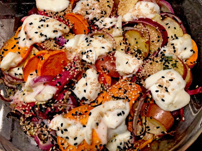 De restjes en imperfecte groenten voor de Kerst