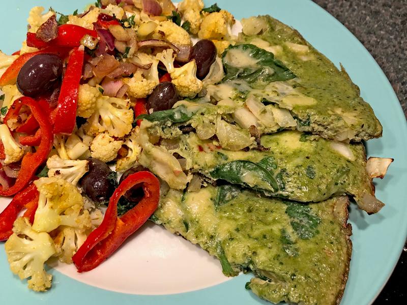 Groene omelet met groenten