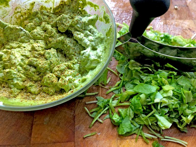 Waterkers, koriander, artisjok en meer pesto
